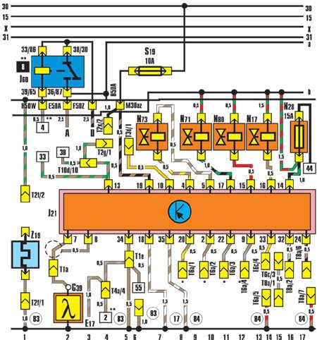 схемах Volkswagen Jetta II